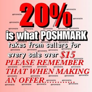 🚫READ 🚫Poshmark takes 20% of all sales ove…